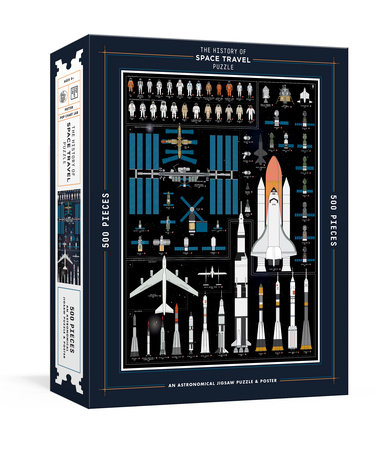 The History of Space Travel Puzzle by Pop Chart Lab