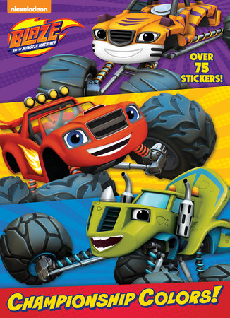 championship colors blaze and the monster machines by golden