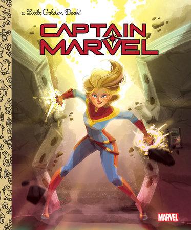 Captain Marvel Little Golden Book (Marvel) by John Sazaklis