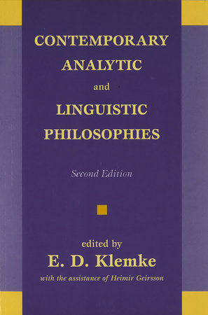 Contemporary Analytic and Linguistic Philosophies by