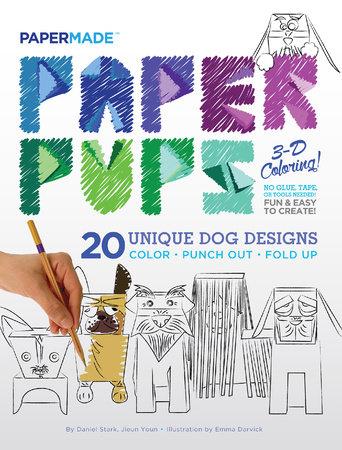 Paper Pups 3-D Coloring!