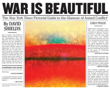 War is Beautiful - The New York Times Pictorial Guide to the Glamour of Armed Conflict