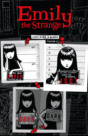 Emily the Strange Volume 1: Lost, Dark, and Bored Book Cover Picture