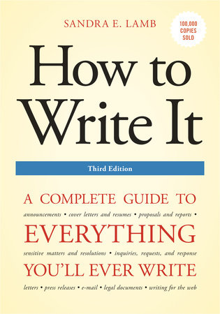 How to Write It, Third Edition by Sandra E. Lamb