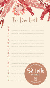"""52 Lists """"To Do List"""" Notepad"""