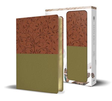 Santa Biblia RVR 1960 - Letra grande, imitación piel verde/marrón, imágenes de de Tierra Santa / Spanish Holy Bible RVR 1960 - Large Print